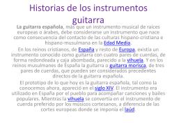 Historias de los instrumentos guitarra