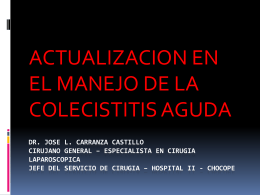 5. Colecistitis Aguda - Dr. José Carranza Castillo