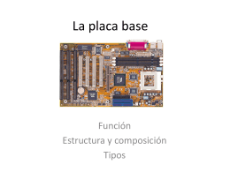 La placa base - dpe