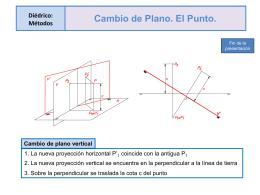 CAMBIO DE PLANO-. Presentación Powerpoint