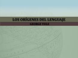 Los orígenes del lenguaje