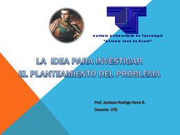 una idea - Prof. Jackson Parra