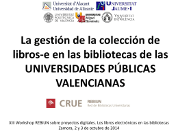 Presentacion Workshop 2014 UUPPVV
