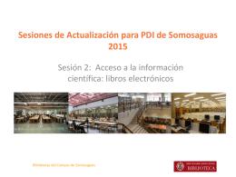 Acceso a la información científica: libros electrónicos
