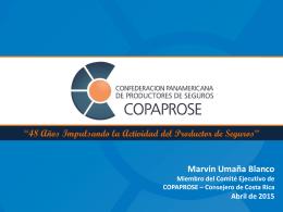 Sr. Marvin Umaña  - XII Congreso Regional COPAPROSE