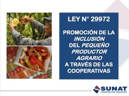 Promoción de la inclusión de los productores agrarios