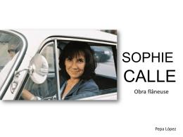 Sophie Calle_Pepa López