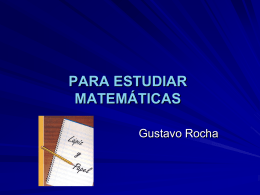 Para estudiar matemáticas