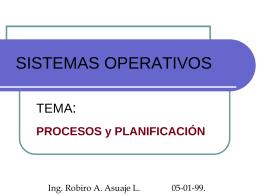 Sistemas Operativos: Procesos y Planificación