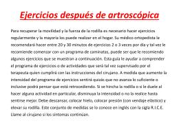 Ejercicios después de artroscópica de Rodilla