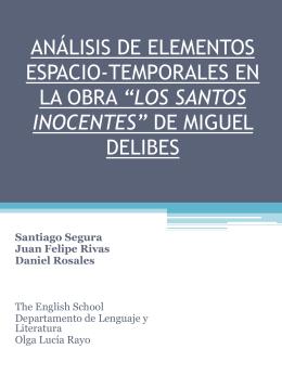 ANÁLISIS DE ELEMENTOS ESPACIO-TEMPORALES