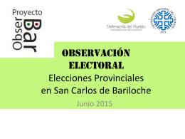 Presentación de resultados ObsesrBar elecciones proviniciales