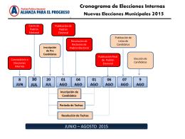 Cronograma de las Elecciones Internas 2015