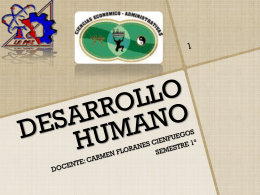 UNIDAD 1 DESARROLLO HUMANO. - Carmen