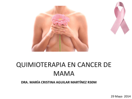 QUIMIOTERAPIA EN CANCER DE MAMA