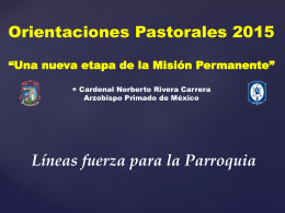 Una nueva etapa de la Misión Permanente - IV Vicaría