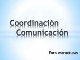 Coordinación Comunicación