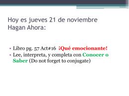Hoy es martes 12 de noviembre Hagan Ahora: