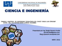 Presentación de PowerPoint - INTRODUCCIÓN A LA INGENIERÍA
