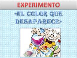 experimento – el color que desaparece