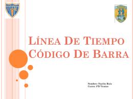 Línea De Tiempo Código De Barra