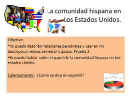leccion 20 La comunidad hispana en USA