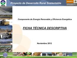 Ficha Tecnica General - Proyecto de Energía Renovable