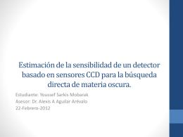 Estimación de la sensibilidad de un detector basado en