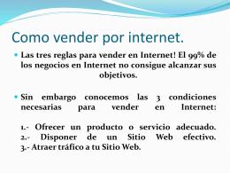 Como vender por internet.