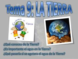 Tema 9. La Tierra