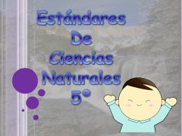 ESTANDARES DE 5 CIENCIAS NATURALES.