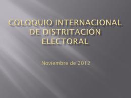 límites territoriales. cálculo de población para la geografía electoral.