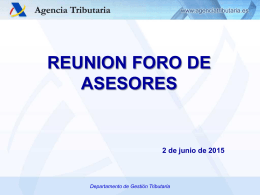 Presentación Foro asesores 2-junio