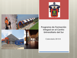 Programa de formación integral