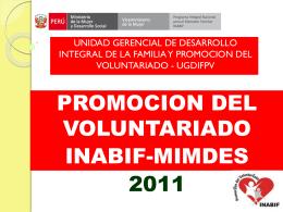 Promoción del Voluntariado
