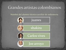 Grandes artistas colombianos