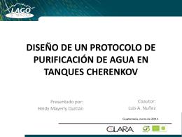 diseño de un protocolo de purificación de agua en tanques cherenkov