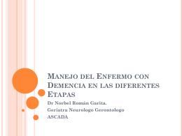 Manejo del Enfermo con Demencia en las diferentes Etapas