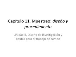Capítulo 11. Muestreo: diseño y procedimiento