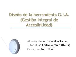 Diseño de la herramienta G.I.A.
