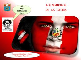 LOS SIMBOLOS DE LA PATRIA