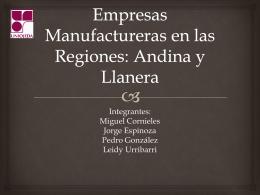 Empresas Manufactureras en la región: Andina y