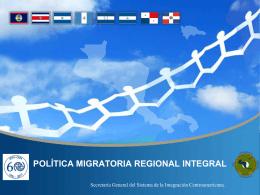 Formulación de una Política Migratoria Regional Integral