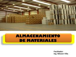Almacenamiento de Materiales - Ing. Nilsson José Villa Martínez
