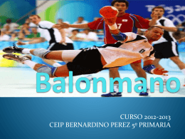 balonmano ppt raul - ceip