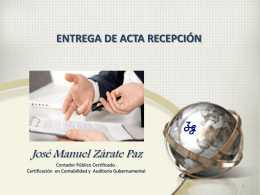 Acta entrega recepción