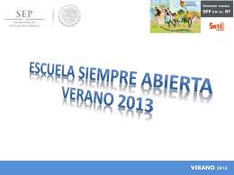 Presentación Escuela Siempre Abierta 2013