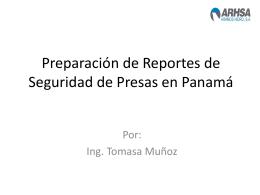 Preparación de Reportes de Seguridad de Presas y
