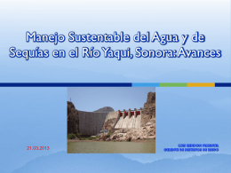 Reglas de Operación de la presa Adolfo Ruiz Cortines