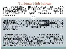 turbinas e hidroelectricas en Mexico